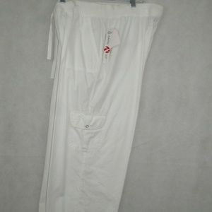 Style & Co Sport Cropped Pants Size L White New